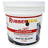 Rubberseal Liquid Rubber Waterproofing and Protective Coating - 1 Gallon, Matte Black (Color: Matte Black, Tamaño: 1 Gallon)