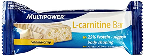 Multipower L-Carnitine Bar Vanille CrisP, 24er Pack (24 x 35 g)