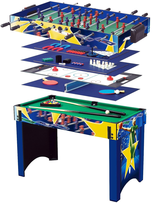 Solex Multi-spieltisch 13-in-1 mit Basketball, holz/bunt, 113 x 62 x 81 cm, 91413 günstig kaufen