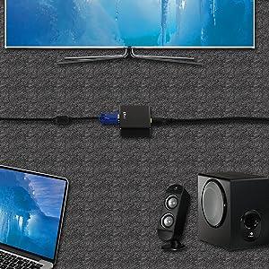 Portta Mini HDMI Converter Support 720p 1080p 4K@30Hz 4K@60Hz via VGA to HDMI Cable for HDTV PS3 PS4 Xbox Blu-ray DVD STB PC (Color: black, Tamaño: VGA Converter)