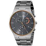 Skagen Men's SKW6076 Balder Grey Titanium Link Watch (Color: Silver/Orange)