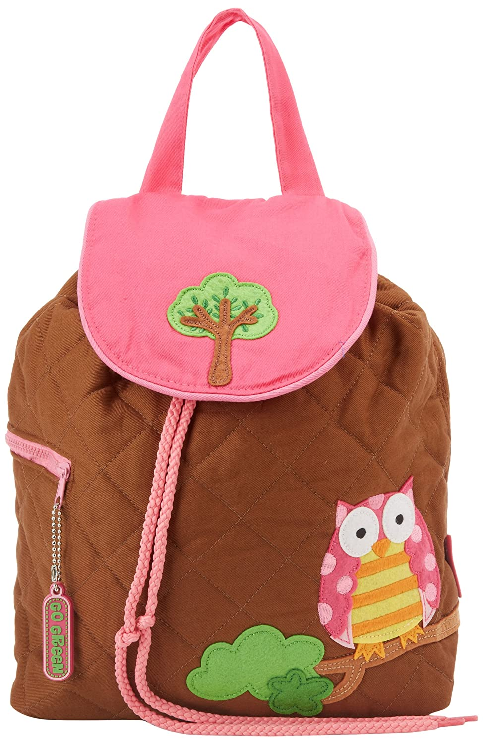 Stephen Joseph Girls Owl Quilted Backpack
