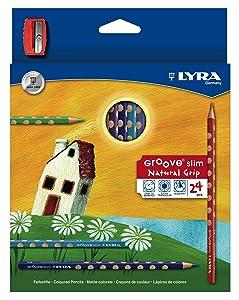 Lyra Groove Slim - Estuche 24 lápices de colores y mina de 3.3 mm diámetro y sacapuntas   revisión y más información