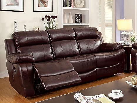 Furniture of America Derick 2-Recliner Sofa