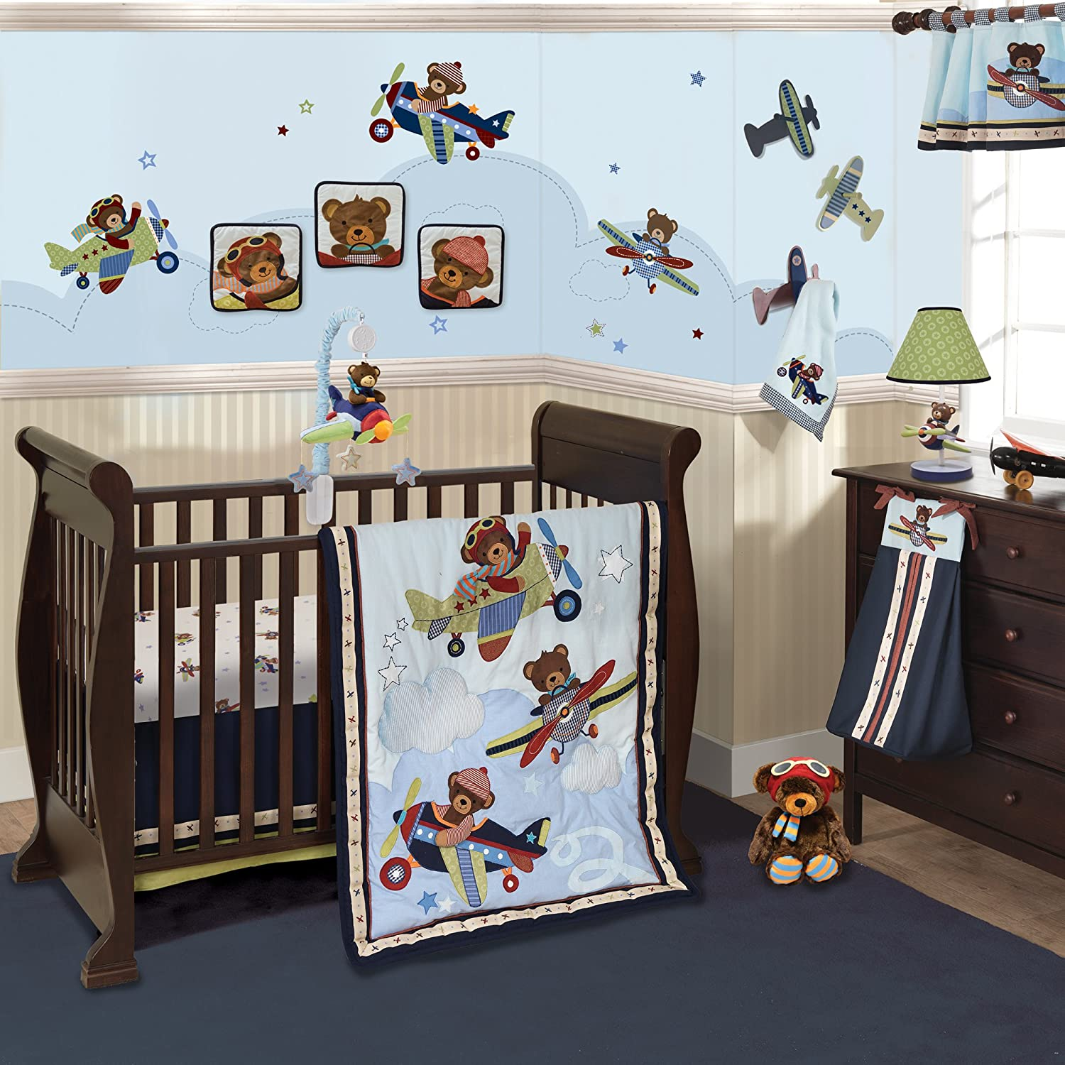 Lambs and Ivy Baby Aviator Baby Bedding