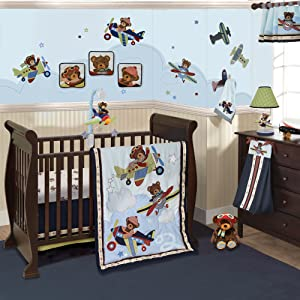 Lambs And Ivy Baby Aviator Baby Bedding And Accessories