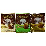 OLD TOWN White Coffee 3 in 1 Variety Pack (Classic, Natural Cane Sugar, Hazelnut) (Color: Brown)