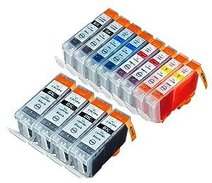 12 Multipack de alta capacidad Canon BCI-3 , BCI-3E , BCI-6 Cartuchos Compatibles 4 negro grande, 2 negro pequeño, 2 ciano, 2 magenta, 2 amarillo para Canon iP4000, iP4000R, iP5000, MP750, MP760, MP780. Cartucho de tinta . BCI-3-E-BK , BCI-6-BK , BCI-6-C / BCI-3-E-C , BCI-6-M / BCI-3-E-M , BCI-6-Y / BCI-3-E-Y © 123 Cartucho  Oficina y papelería Más información y revisión del cliente