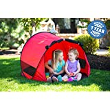 ModFamily Little Nook Children's Pop Up Play Tent for Fun Indoor and Outdoor Play (Red) (Color: Red)