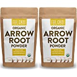 Organic Arrowroot Powder (Flour) - 2x 1 Pound Reselable Bags (32oz / 2 lbs Total) - 100% Raw From Vietnam - by Feel Good Organics
