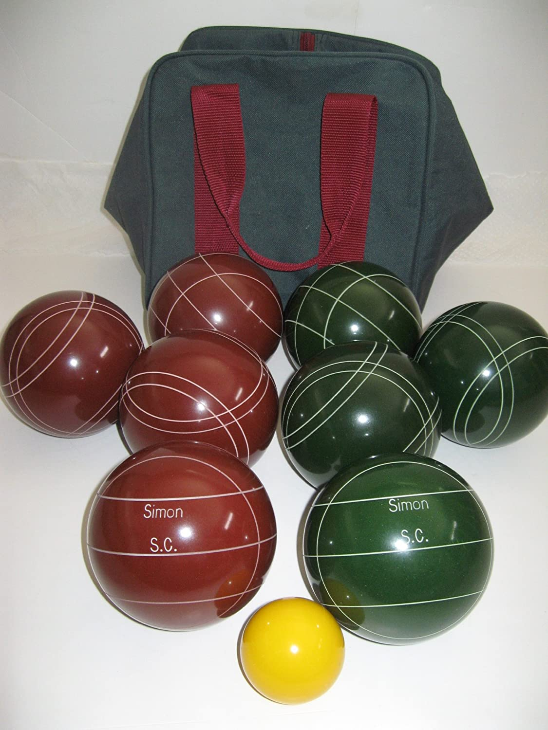 Premium Quality Engraved EPCO Bocce package – 107mm EPCO Red and Green balls … kaufen