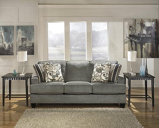 Yvette Contemporary Grey Fabric Sofa