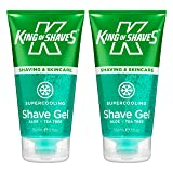 King of Shaves Supercooling Shaving Gel 5 fl.Oz / 150ml (x2) TWIN-PACK (Tamaño: 2 x 5fl.oz / 2 x 150ml)