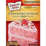 Duncan Hines Signature Cake Mix, Strawberry Supreme, 15.25 Ounce (Tamaño: 15.25 ounces)