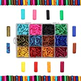 Over 600 Ceramic Tube Beads for Jewelry Making with Free Genuine Leather Cord Necklace - Handmade Colorful Premium Quality Craft Bead Kit - Unique Craft Supplies (Color: Over 600 beads)