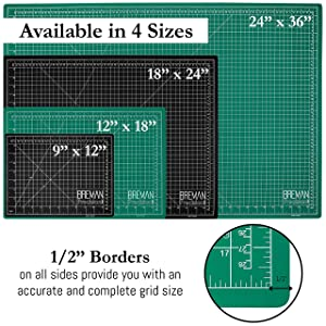 Breman Precision Self Healing Cutting Mat I Sewing Craft Quilting Fabric Rotary Cutting Mat I Perfect for Crafters Hobbyists and Artists I 2 Sided 5 Ply PVC Craft Mat with Grid Lines I A4 9x12 inches (Tamaño: A4(12X9) Inches)