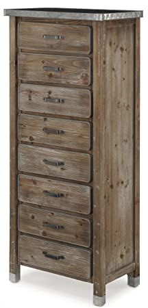 ZINC TOP DRESSER NATURAL WOOD