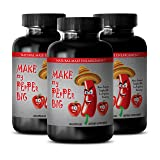 Sexual pleasure for men - MAKE MY PEPPER BIG - Sex supplements for men - 3 Bottles 180 capsules