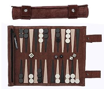 Sondergut - Backgammon - Matériau Spécial Jacquet De Voyage Mocca