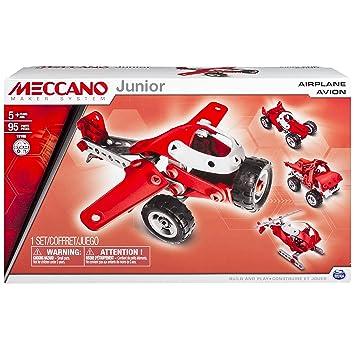 Meccano - 6026701 - Jeu de Construction - Avion - 4 Modèles Meccano Junior