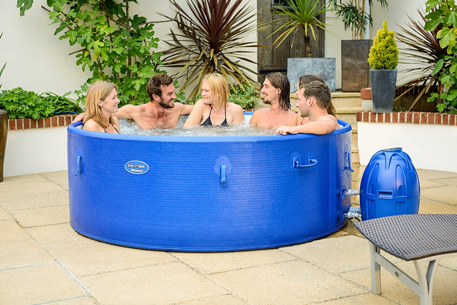 The Lay-Z-Spa Monaco is one of the biggest inflatable hot tubs on this list and will cost you over £550.