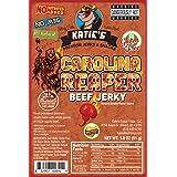 Carolina Reaper Spicy Beef Jerky-GLUTEN FREE - No Preservatives, Nitrites, or MSG (Tamaño: 1)