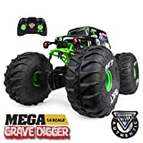 Monster Jam, Official Mega Grave Digger All-Terrain Remote Control Monster Truck with Lights, 1: 6 Scale (Color: Multicolor)