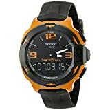 Tissot Men's T0814209705703 T-Race Touch Aluminum Watch with Black Band (Color: Black/Orange)