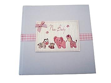 white cotton cards cards album photo pour nouveau n rose rose taille moyenne b b s. Black Bedroom Furniture Sets. Home Design Ideas