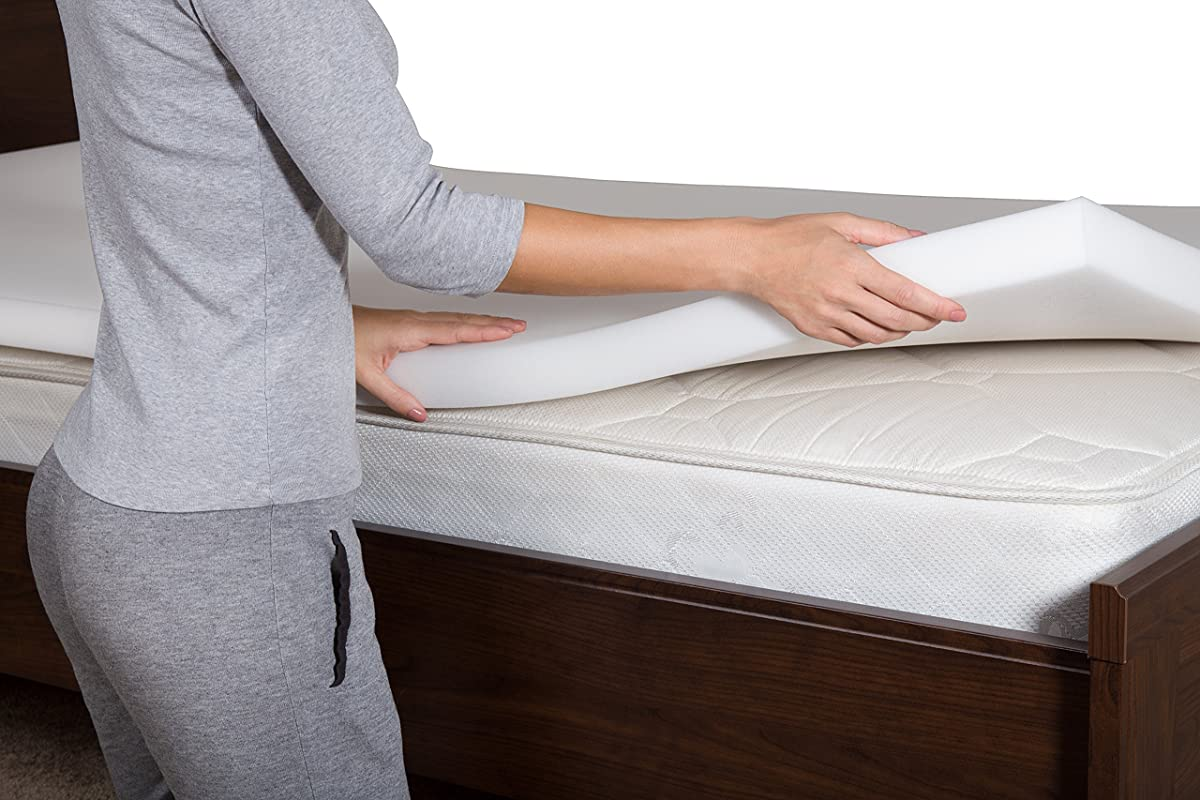 Pharmedoc Memory Foam Mattress Topper 2 Inch Thick