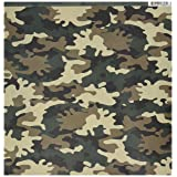 Reminisce Camouflaged 12 by 12-Inch Double Sided Scrapbook Paper, Woodland Camo (CAM-003) (Color: Woodland, Tamaño: 12-x-12-Inch)