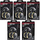 3M WorkTunes Connect Hearing Protector, Wired - 90541-80025T, 5 Pack
