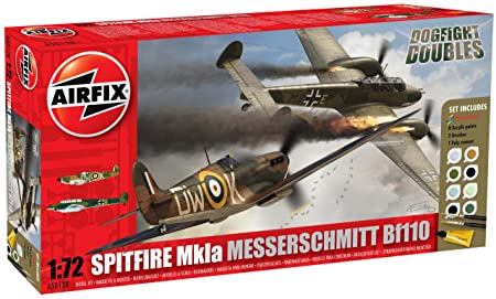 Airfix - A50128 - Maquette - Dogfight Double Spitfire Mk1A & BF110C/D