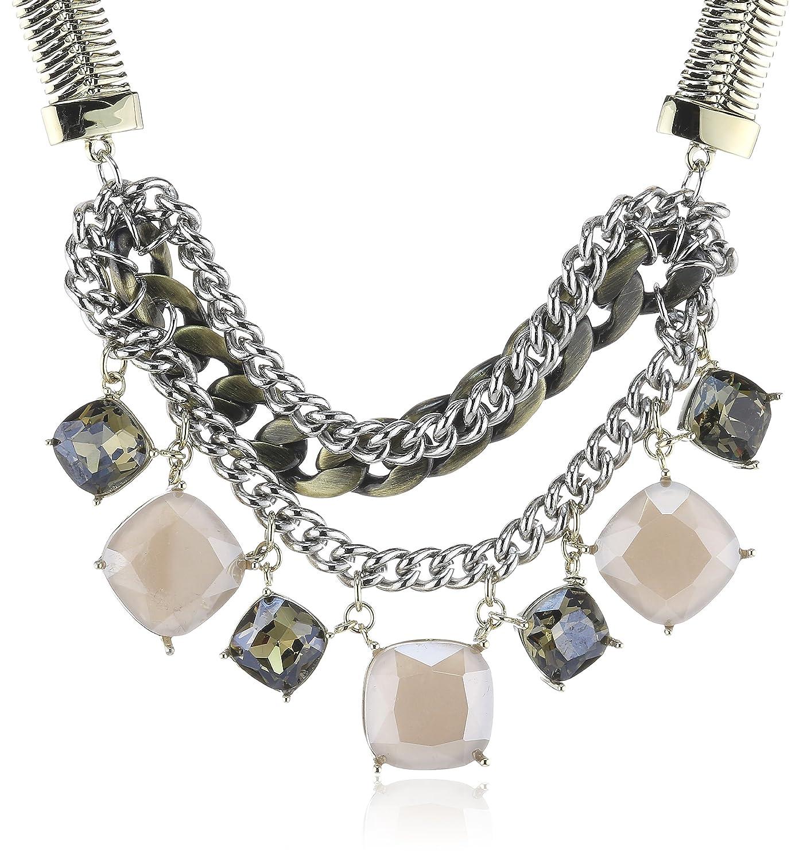 Dyrberg/Kern Damen-Halskette mit Anhänger Alexiana sg grey Vergoldetes 334777 online kaufen