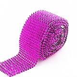 AEAOA 1 Yard Fuchsia Hot Pink Sew Stitch On Spike Stud Cone Flatback Punk Rock Trim mesh Bead Craft (Fuchsia) (Tamaño: Fuchsia)