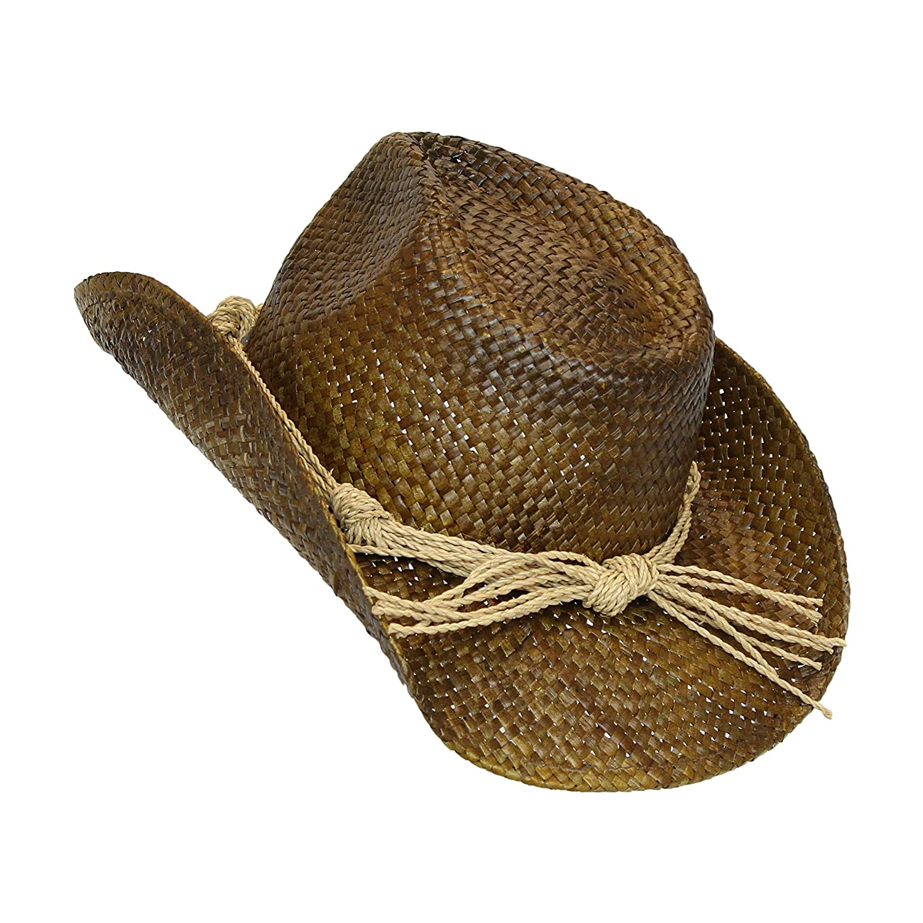 Western Seagrass Straw Cowboy Hat – Cute Vintage Cowgirl Hat w/ Flower 4