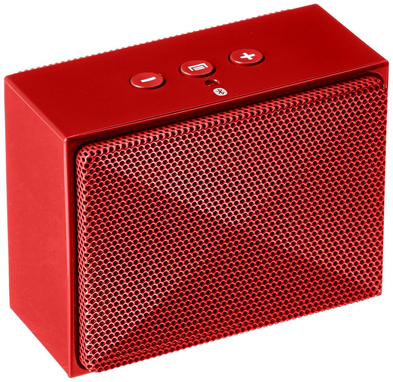 AmazonBasics - Minialtavoz portátil con Bluetooth - Rojo