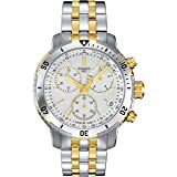 Tissot PRS 200 Stainless Steel Two Tone Chronograph Mens Watch T0674172203101 (Color: silver)