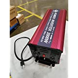 Power Inverter 2000W with charger and ups, Auto Inverter DC 48 volt to 110v, Pure Sine Wave Inverter 2000W Peak 4000w 2 AC Outlets, 1 USB Charging Port. Charger current 10 Ampere