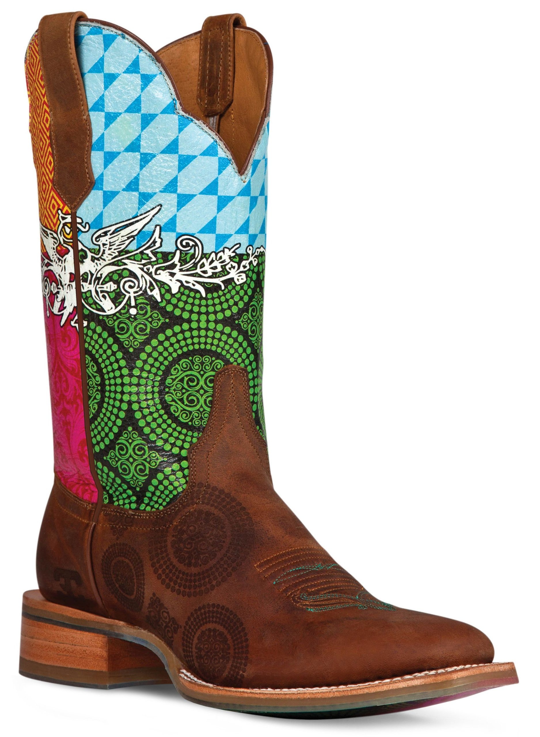 Cinch Women's Edge Festival Cowgirl Boot Square Toe
