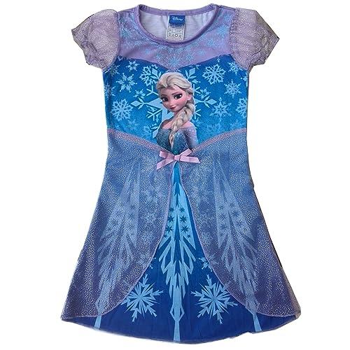 Generic Disney Frozen Dress Princess Elsa Girls Dress Costume Skirt Nightgown Pajama