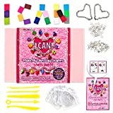 KRAFTZLAB Make My Own Clay Charms Craft Kit for Girls Includes 14.1 OZ Clay, 20, 2 Charm Bracelets and Much More - Polymer Charms Clay Set and Ideal Crafts Gift for Kids Ages 7 12