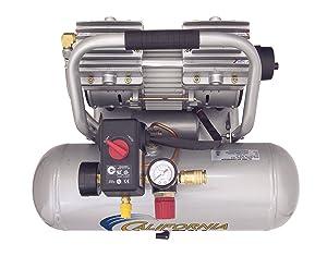 California Air Tools 2010ALFC Ultra Quiet, Oil-Free & Lightweight 1.0 hp Industrial Air Compressor, 2.0 gallon (Tamaño: 2.0 gallon)
