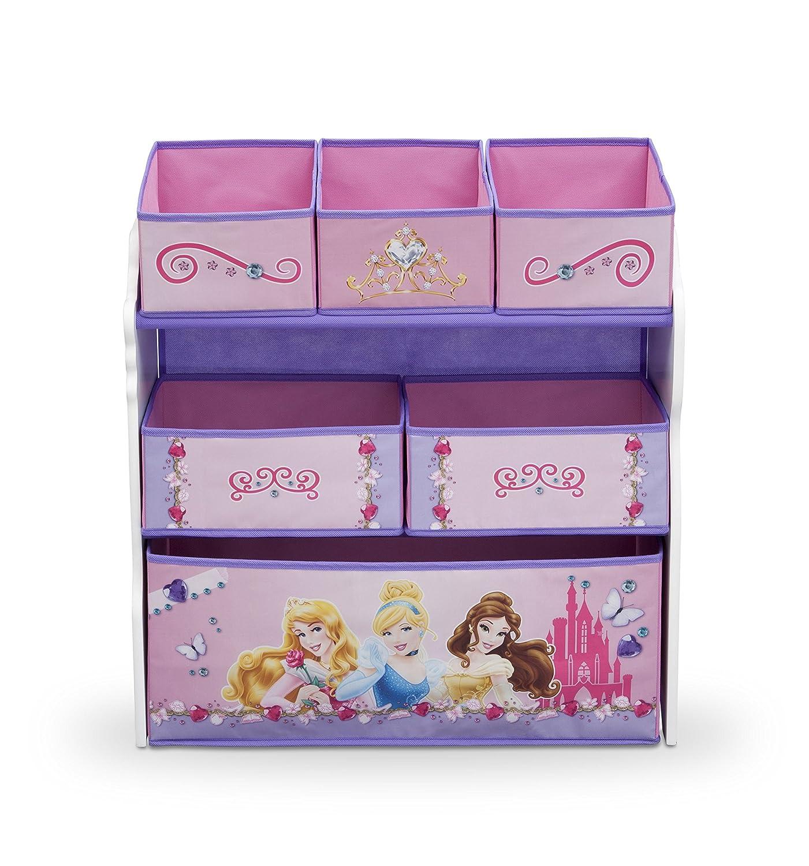 Spielzeugregal - Standregal - Aufbewahrungsregal 6 Boxen mit Motivauswahl (Princess Schmuck)