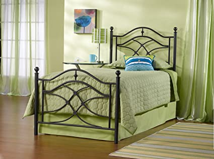 Hillsdale Furniture 1601BTWR Cole Bed Set with Rails, Twin, Black Twinkle