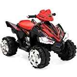 Best Choice Products Kids ATV Quad 4 Wheeler Ride On with 12V Battery Power Electric Power LED Lights & Music (Color: Pink)