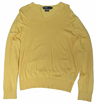 ... Classic Ralph Lauren Men Yellow Pullover Merino Sweaters ...