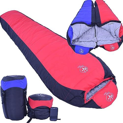 Outdoor Vitals 15 Degree Down Mummy Sleeping Bag, 3 Season, Backpacking, Lightweight, Hiking, Camping