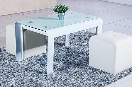 Mesa de centro elevable para salón modelo QUICK color blanco - Sedutahome