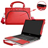 Inspiron 17 5770 5775 Case,2 in 1 Accurately Designed Protective PU Leather Cover + Portable Carrying Bag for 17.3
